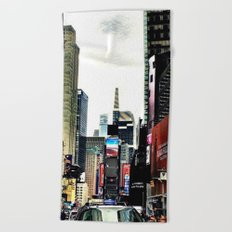 Downtown New York City Beach Towel