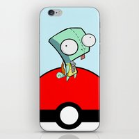 squirtle iPhone & iPod Skins featuring GIR Squirtle  by Diffro