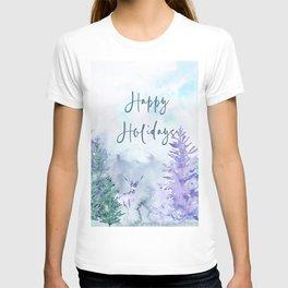 Watercolor Happy Holidays Winter Wonderland T-shirt