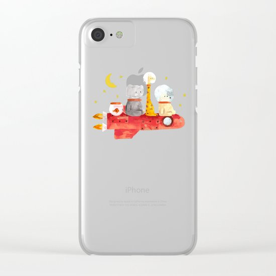 Let's All Go To Mars Clear iPhone Case