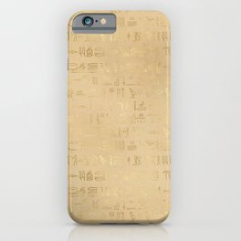 Gold Egyptian Design Pattern iPhone Case