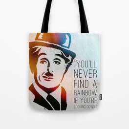 Charlie Chaplin Quote Tote Bag