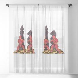 Martial Artists Strategist Sheer Curtain