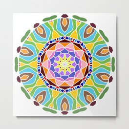 Geometric circle element Metal Print