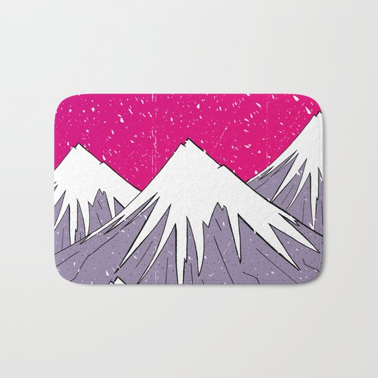 The mountains and the Snow Bath Mat