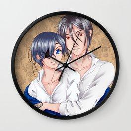 Cuddling Wall Clock
