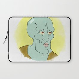 Handsome squidward Laptop Sleeve