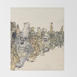 Koukeri (Mummers) Throw Blanket