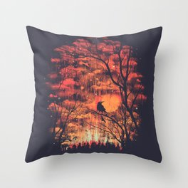 Burning In The Skies Throw Pillow