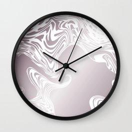 Rose Gold Liquid Marble Effect Design Wall Clock