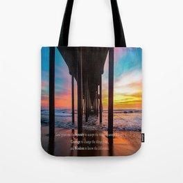 Serenity Prayer - Surf City USA Tote Bag