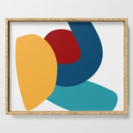 Abstract Composition Yellow Red Blue Art Minimal Serving Tray