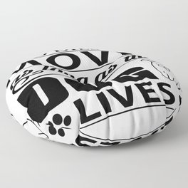 I don't care who dies in a movie, as long as the dog lives! Floor Pillow