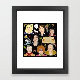 Three's Company Universe Framed Art Print