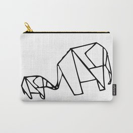 Origami Elephants (mom and baby) Carry-All Pouch