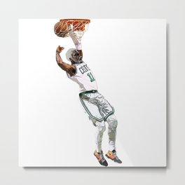 Kyrie Uncle Drew dunk art Metal Print