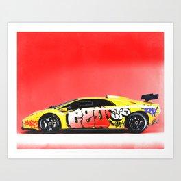 Lamborghini Diablo Art Print