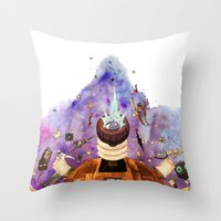 doctor who Throw Pillows featuring Doctor Who by Anthony Wallace
