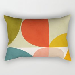 shapes of mid century geometry art Rectangular Pillow