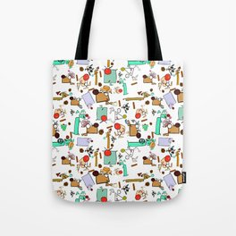 "Dialogue with the Dog - R01 - ""Friends"" Tote Bag"