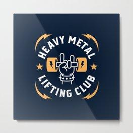Heavy Metal Lifting Club (Yellow) Metal Print