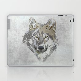 Wolf Head Illustration Laptop & iPad Skin