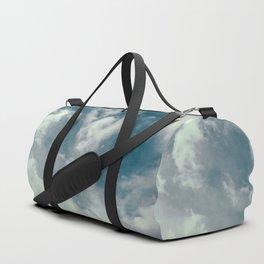 Soft Dreamy Cloudy Sky Duffle Bag