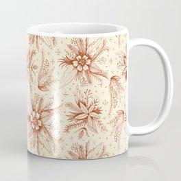 red sketchy floral pattern Coffee Mug