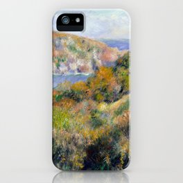Hills around the Bay of Moulin Huet, Guernsey by Renoir iPhone Case
