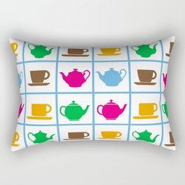 Colorful teapots pattern Rectangular Pillow