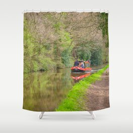 Leeds and Liverpool Canal Shower Curtain
