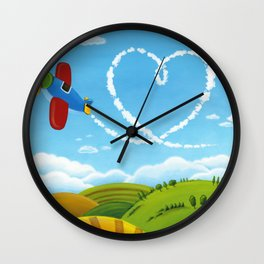 Flying Heart Wall Clock