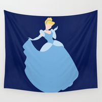 cinderella Wall Tapestries featuring Cinderella by Dewdroplet