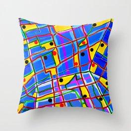Meta-Urban Space Throw Pillow