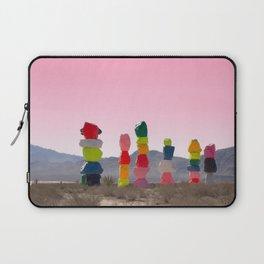 Seven Magic Mountains with Pink Sky - Las Vegas Laptop Sleeve