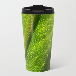 Spotted Leaf Metal Travel Mug