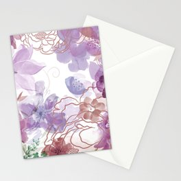 Rosie Outlook - muted purples Stationery Cards