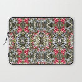 Very Berry Holly Christmas Multi Fractal from Photo 804 Laptop Sleeve