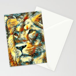 AnimalArt_Lion_20170606_by_JAMColorsSpecial Stationery Cards