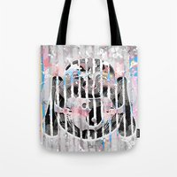 buddah Tote Bags featuring Buddah - Butterfly by Kristina Snowflake
