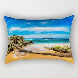 Singular Tropical Beach Rectangular Pillow