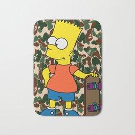 Bart Simpson skateboarding x Bape Camo Bath Mat