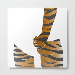 tiger butt Metal Print