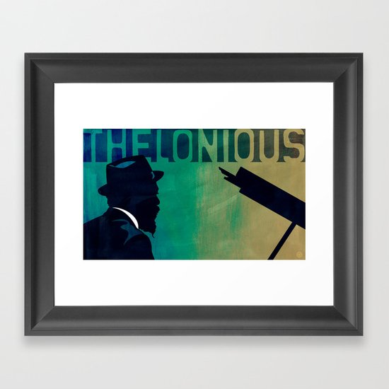 Thelonious in Blue Framed Art Print