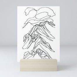 Ymir Mountain Ridges :: Single Line Mini Art Print