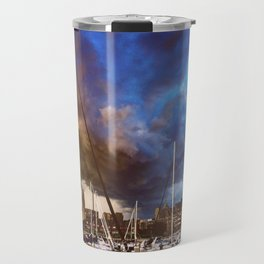 Storm Over the Erie Basin Marina Travel Mug