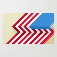 flag Area & Throw Rugs featuring Flag by Ryan Winters
