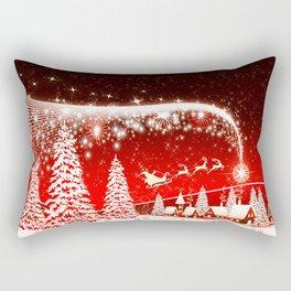 Santa Beautiful Christmas Rectangular Pillow