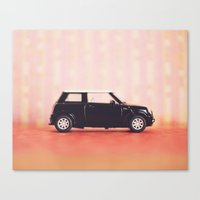 mini cooper Canvas Prints featuring Mini Cooper by Anna Dykema Photography