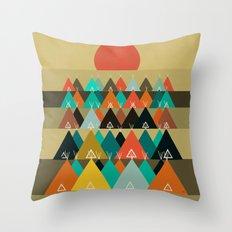 Tipi Moon Throw Pillow